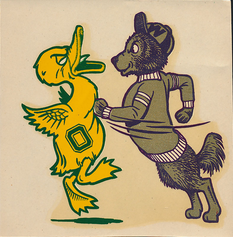 University of Washington vs Oregon Game Decal