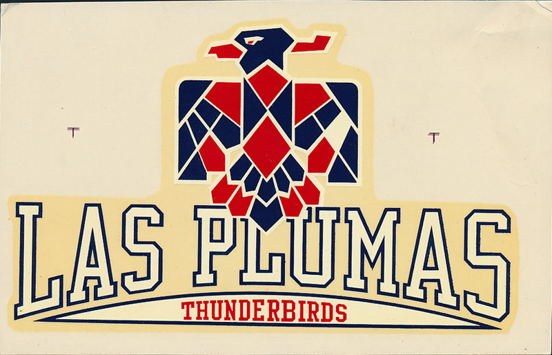 Las Plumas High School Thunderbirds Decal