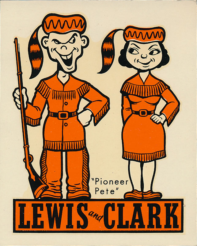 Lewis and Clark College Pioneers Decal