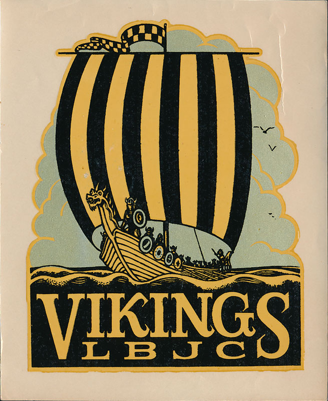 Long Beach Junior College Vikings Decal