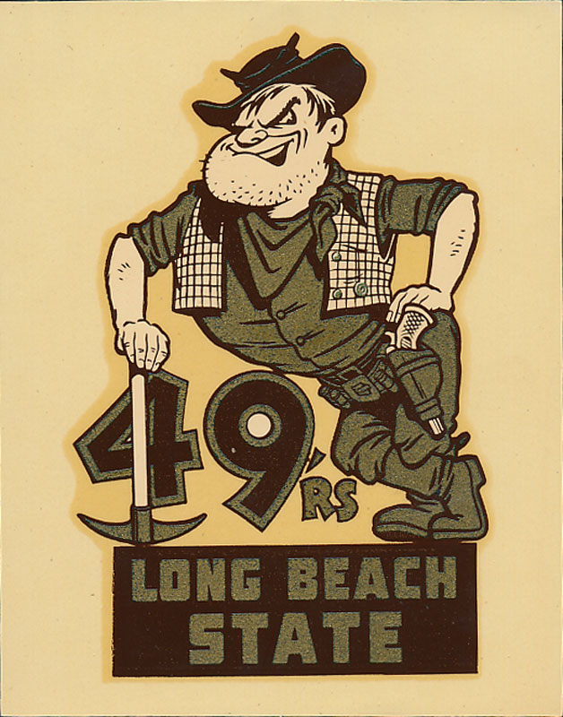 Long Beach State College 49ers Decal