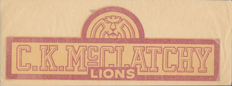 McClatchy High School Decal