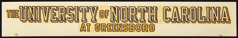 University of North Carolina at Greensboro Spartans Decal