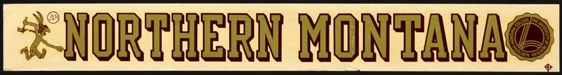 Northern Montana College Decal