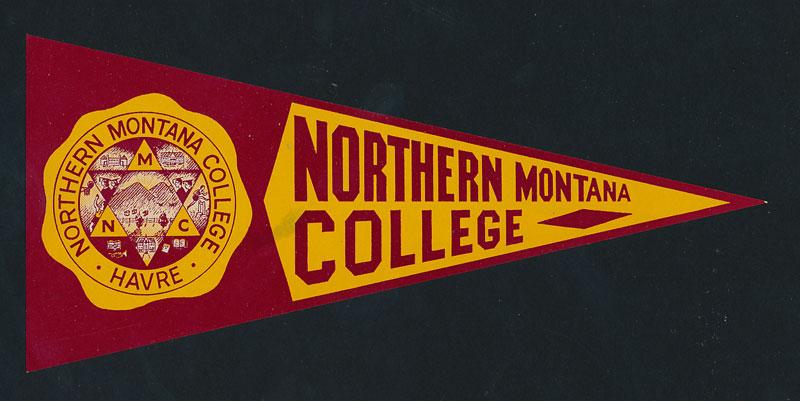 Northern Montana College Flag Decal