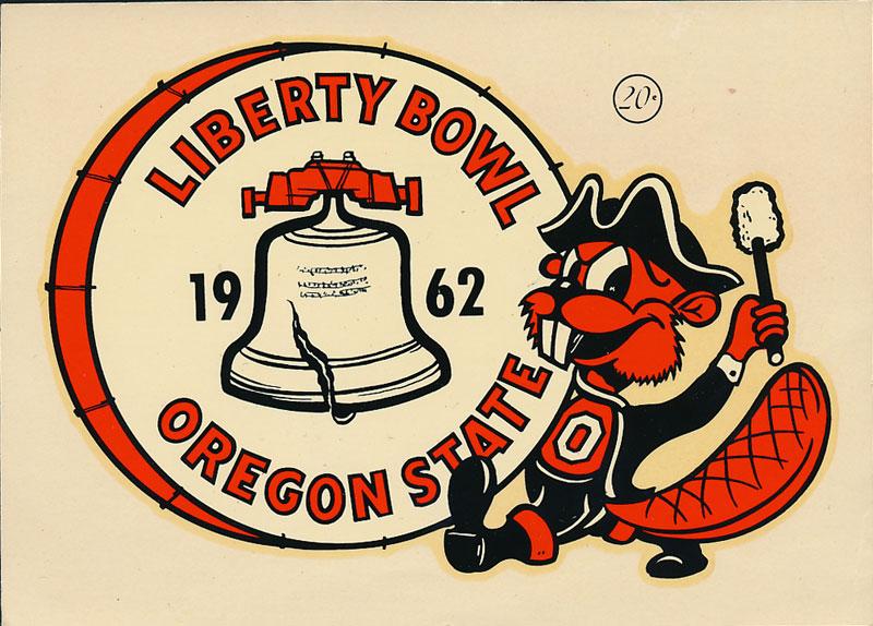 Oregon State University Beavers 1962 Liberty Bowl Champions Decal
