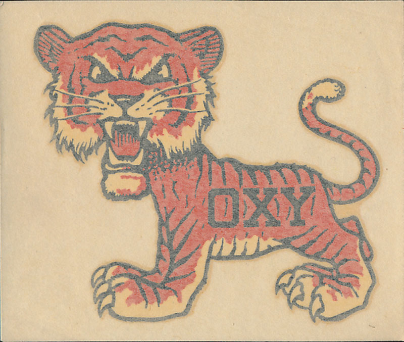 Occidental College Oxy Tigers Decal