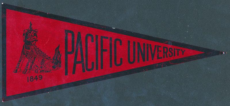 Pacific University Boxers Sticker