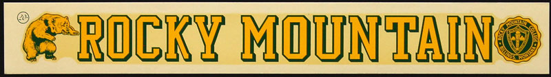Rocky Mountain College Bears Decal
