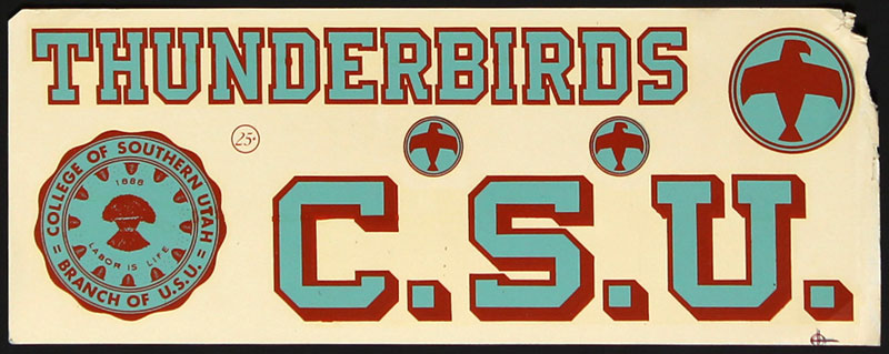 College of Southern Utah Thunderbirds Decal