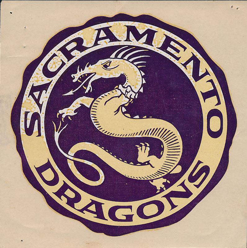 Sacramento High School Dragons Decal