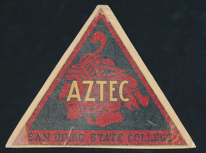 San Diego State College Aztecs Decal