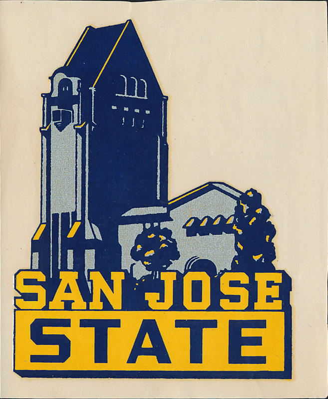 San Jose State College Spartans Decal