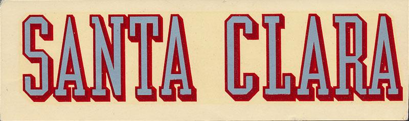 University of Santa Clara Broncos Decal