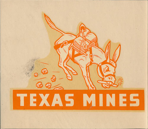 Texas Mines (College of Mines and Metallurgy of the University of Texas) Decal