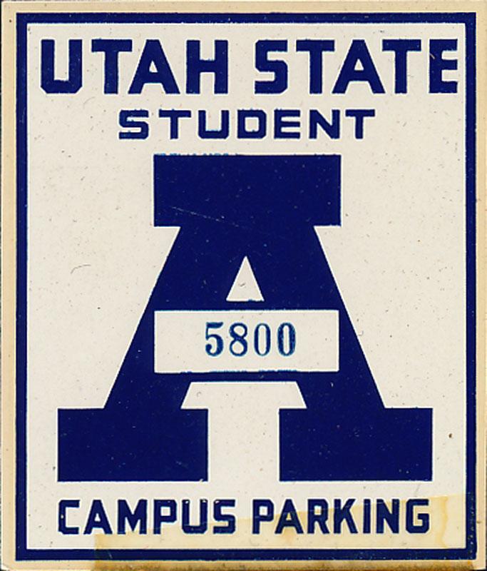 Utah State University Student Campus Parking Decal