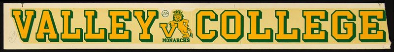 Los Angeles Valley College Monarchs Decal