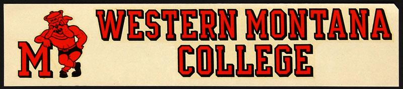Western Montana College Bulldogs Decal