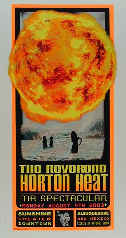 Delano Rock Reverend Horton Heat Poster
