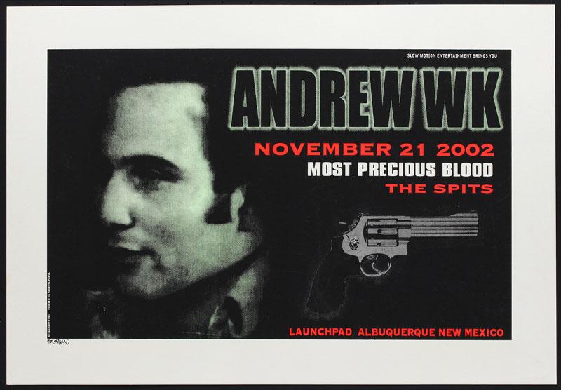 Delano Rock Andrew WK Poster