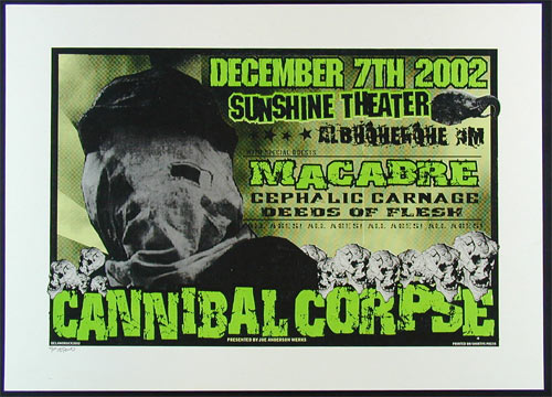 Delano Rock Cannibal Corpse Poster