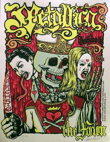 Michael Michael Motorcycle Metallica Poster