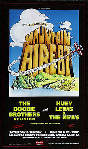Mountain Aire 1987 Doobie Brothers Poster