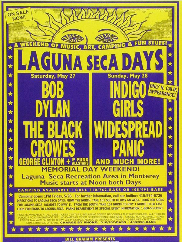 Laguna Seca Days Bob Dylan Poster