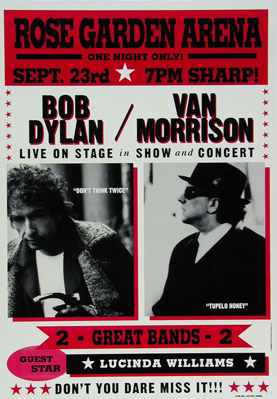 Bob Dylan Van Morrison Poster