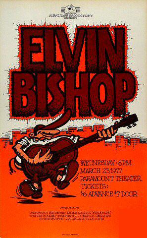 Elvin Bishop Cardboard Poster