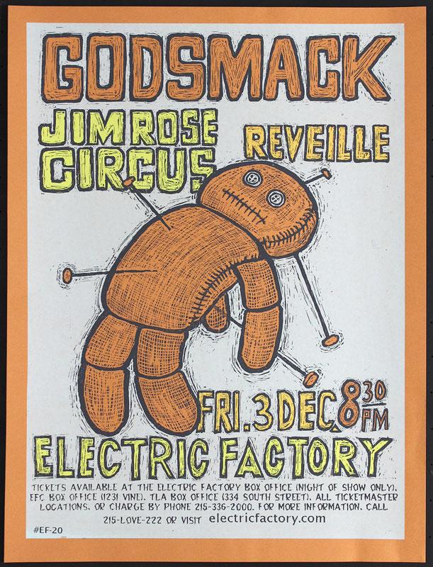 Steve Walters Godsmack Poster