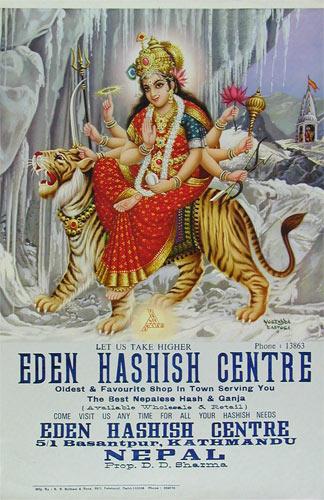 Eden Hashish Centre Poster - Snow Durga Poster