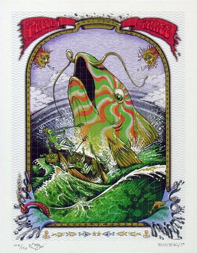 Emek Phish Pheel Phree Blotter Art Print