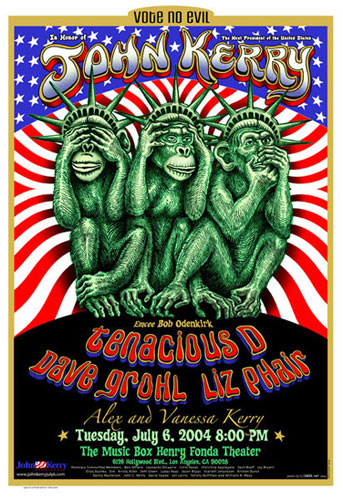 Emek In Honor of John Kerry 2004 Presidential Election Poster