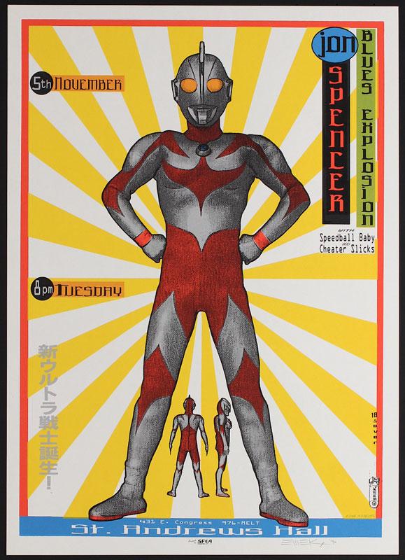 Emek Jon Spencer Blues Explosion Ultraman Poster