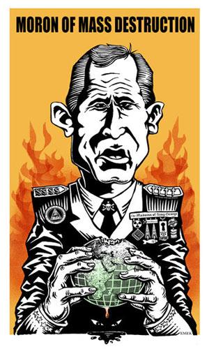 Emek Moron Of Mass Destruction George W. Bush Poster