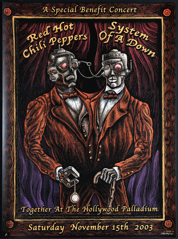Emek Red Hot Chili Peppers with System Of A Down Poster