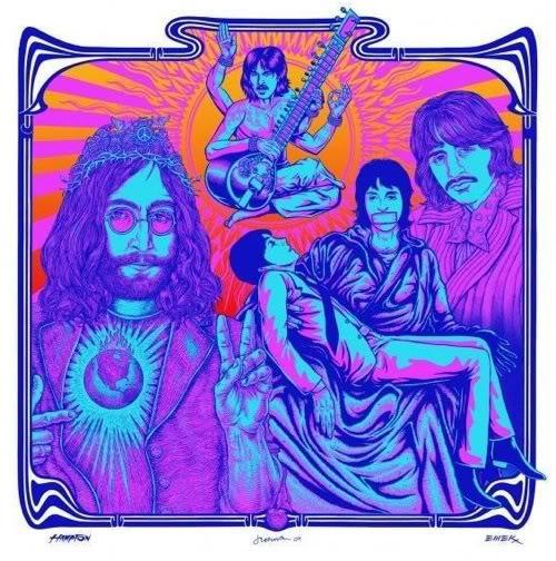 Emek, Hampton and Jermaine Beatles I'd Love To Turm You On Art Print