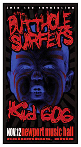 Mike Martin The Butthole Surfers Poster