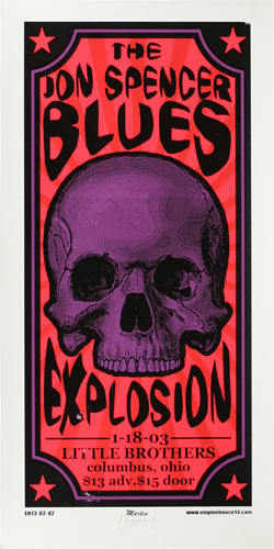 Mike Martin Jon Spencer Blues Explosion Poster