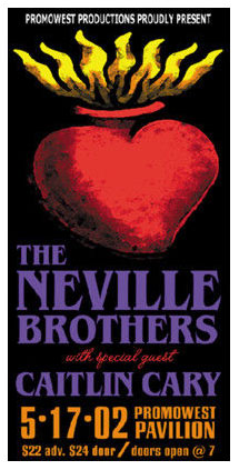 Mike Martin The Neville Brothers Poster