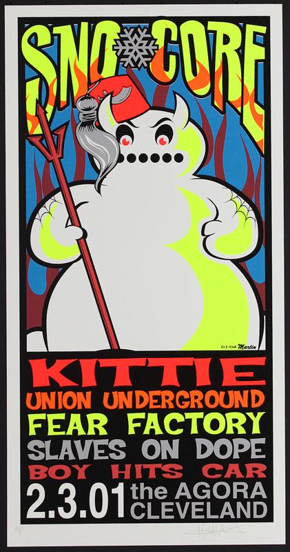 Mike Martin Sno-Core (SnoCore) 2001 Poster
