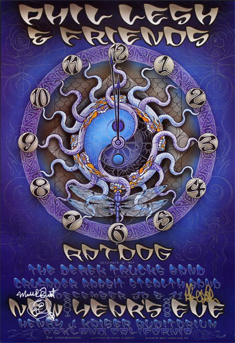 Michael Everett Phil Lesh and Friends Autographed  Poster
