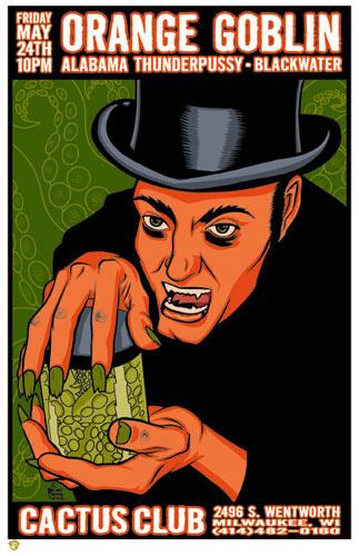 Brian Ewing Orange Goblin Poster