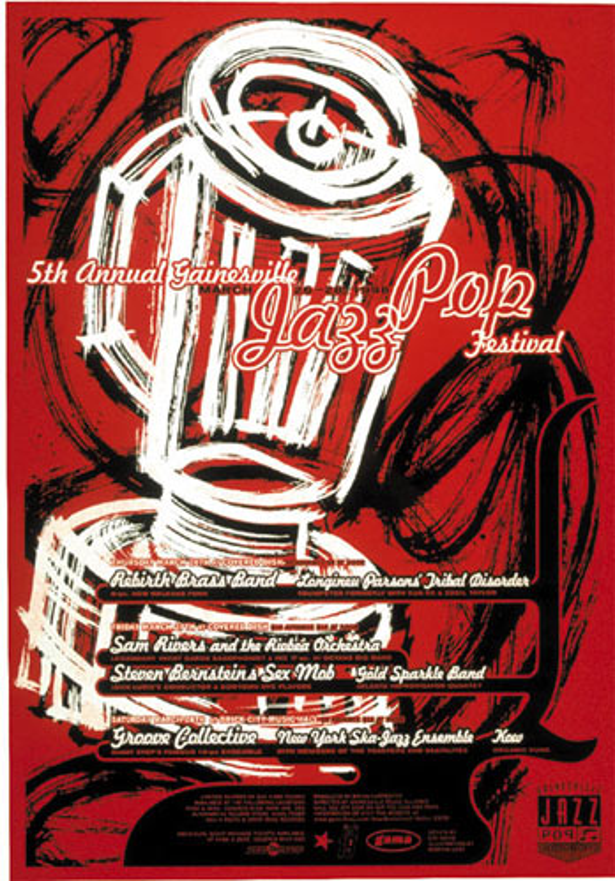 Thomas Scott (Eyenoise) 5th Annual Gainesville Jazz Pop Festival - Rebirth Brass Band Poster