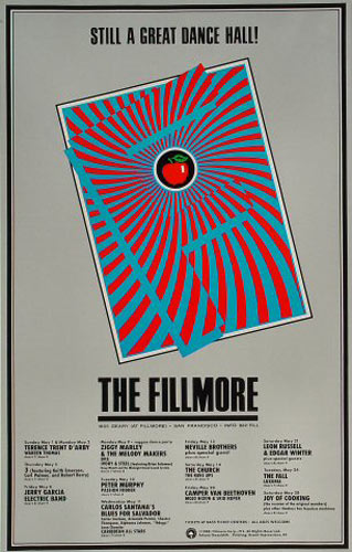May 1988 Calendar New Fillmore Poster F12