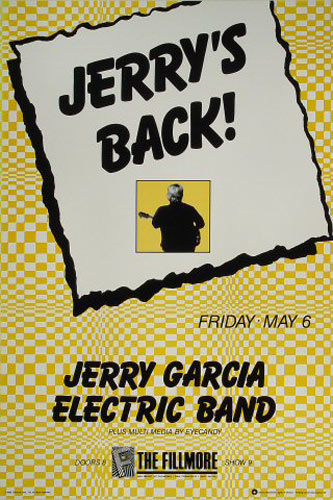 Jerry Garcia Electric Band New Fillmore Poster F13