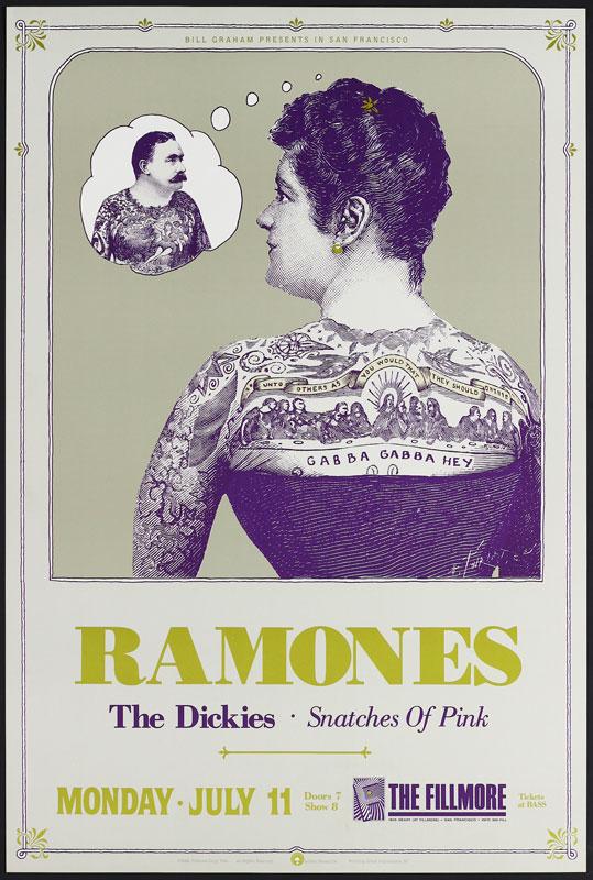 Ramones New Fillmore F34 Poster