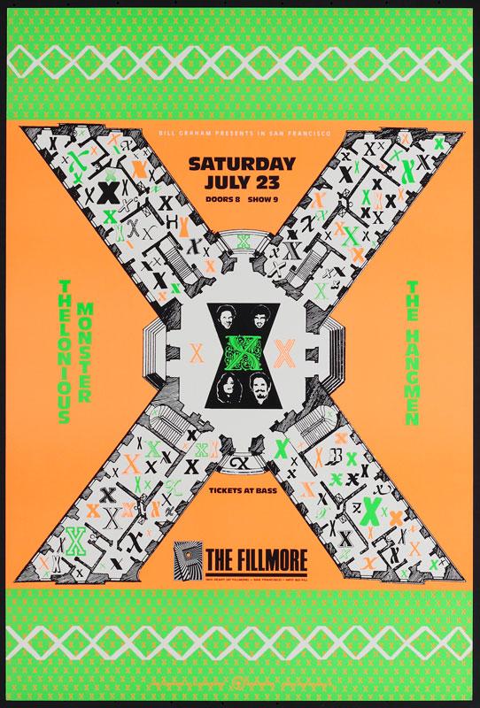 X New Fillmore Poster F37
