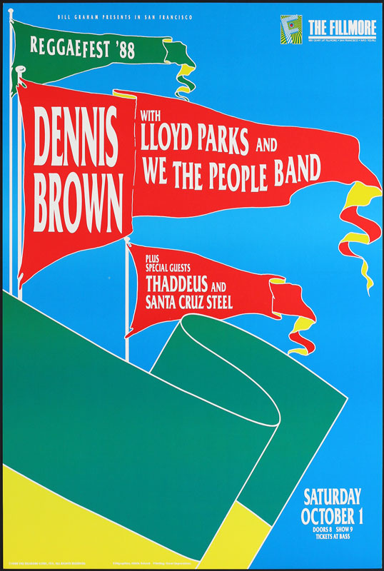 Dennis Brown New Fillmore Poster F53